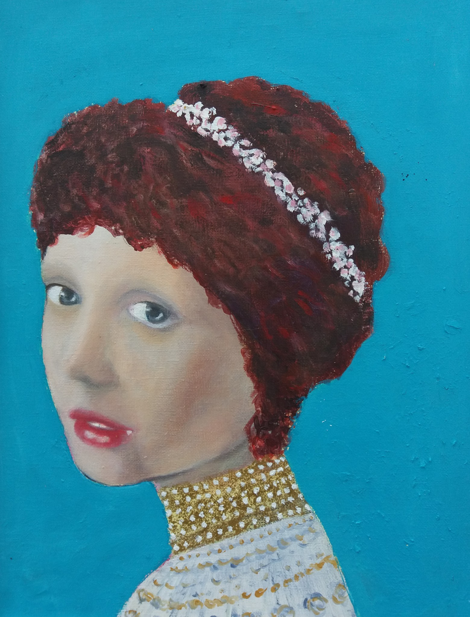Portrait Lady Girl Artwork Painting Person