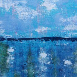 Painting Landscape Paint Colour Artwork Blue
