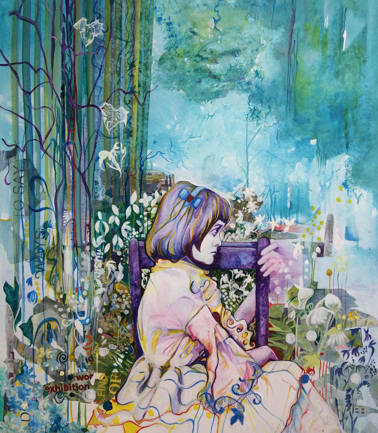 Portrait Painting Alice Wonderland Artwork Girl