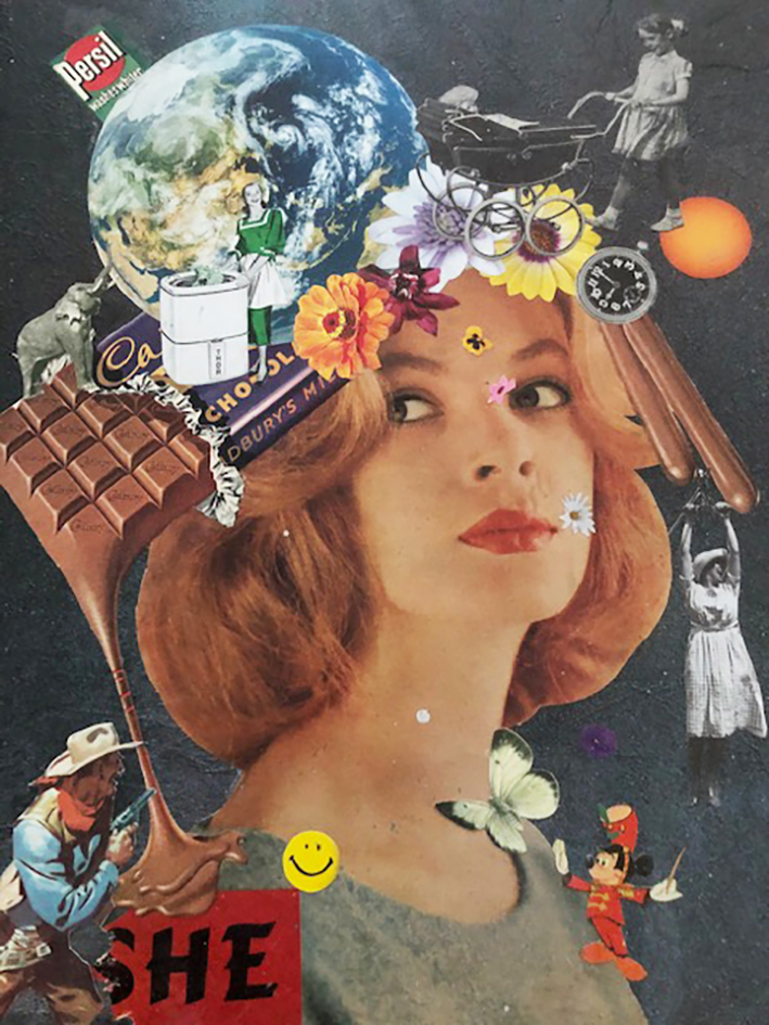 Collage Artwork Lady Girl Portrait