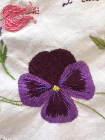 Stitching Artwork Embroidery Stitch Flowers Nature