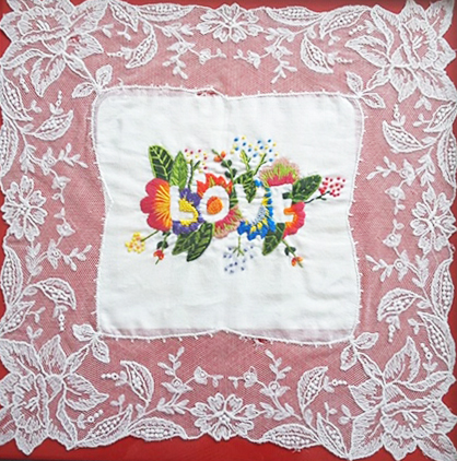 Stitching Artwork Embroidery Stitch Nature Love Flowers