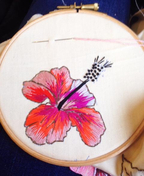 Flowers Stitching Artwork Embroidery Stitch