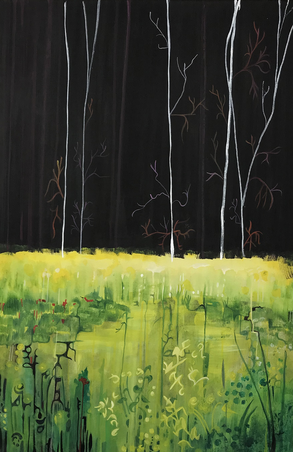 Landscape Painting Darkness Nature Forest Earth