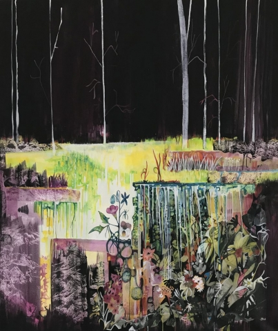 Landscape Painting Artwork Nature Colour Darkness Forest