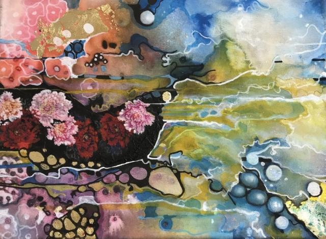 Dream Subconscious Painting Nature Flowers Pattern Colour