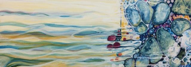 Ocean Seaside Underwater Tide Painting Colour Blue Pattern