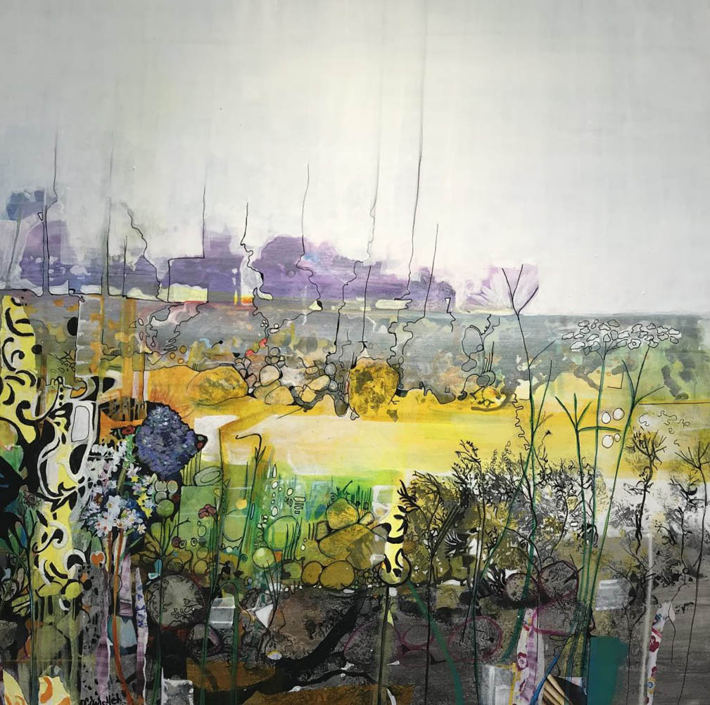Landscape Artwork Painting Collage Colour