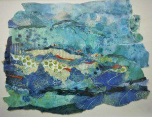 Painting Art Torn Blue