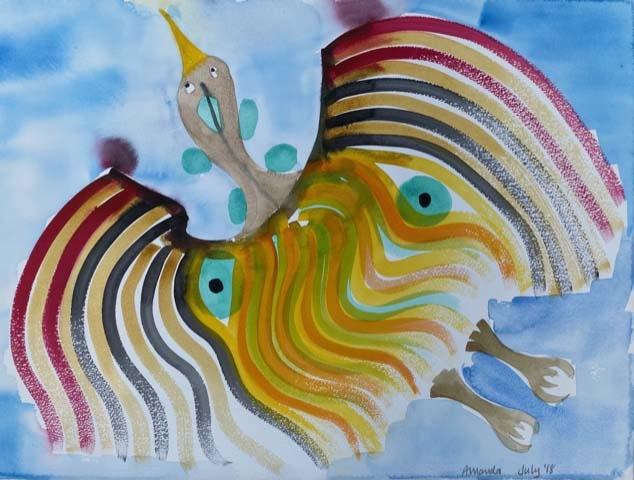 'Phoenix' 67cms x 54cms watercolour on watercolour paper £120