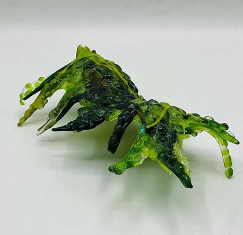 'Coming Through' fused glass sculpture, 24cm x 13cm x 8cm