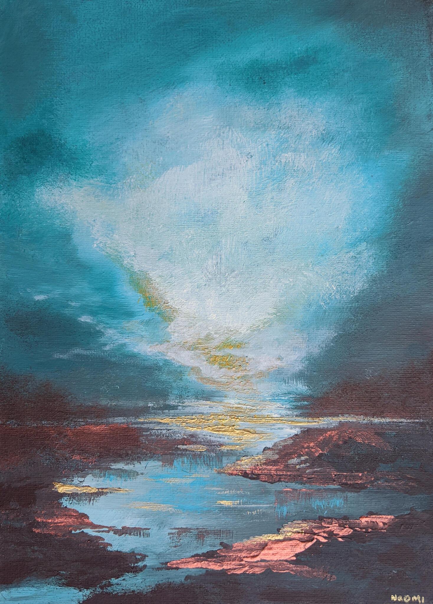 'Turquoise Skies' original acrylic painting, £70