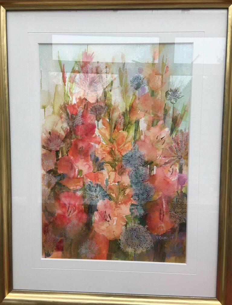 'Gladioli' watercolour, 50cm x 65 cm, £525