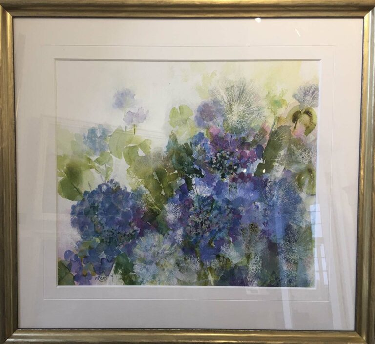 'Hydrangeas' watercolour, 55cm x 60cm, £525
