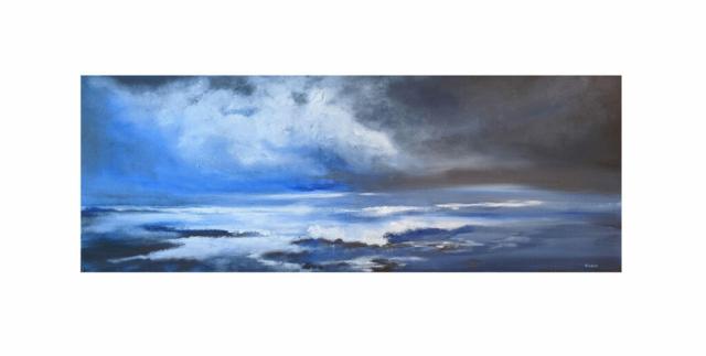 'December Sea' original acrylic painting, £175