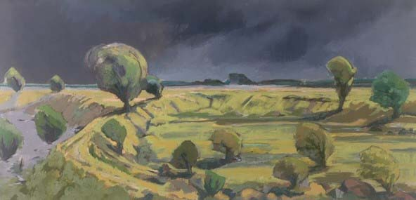 'Stormy Day, East Kent' 112cm x 56cm, £700