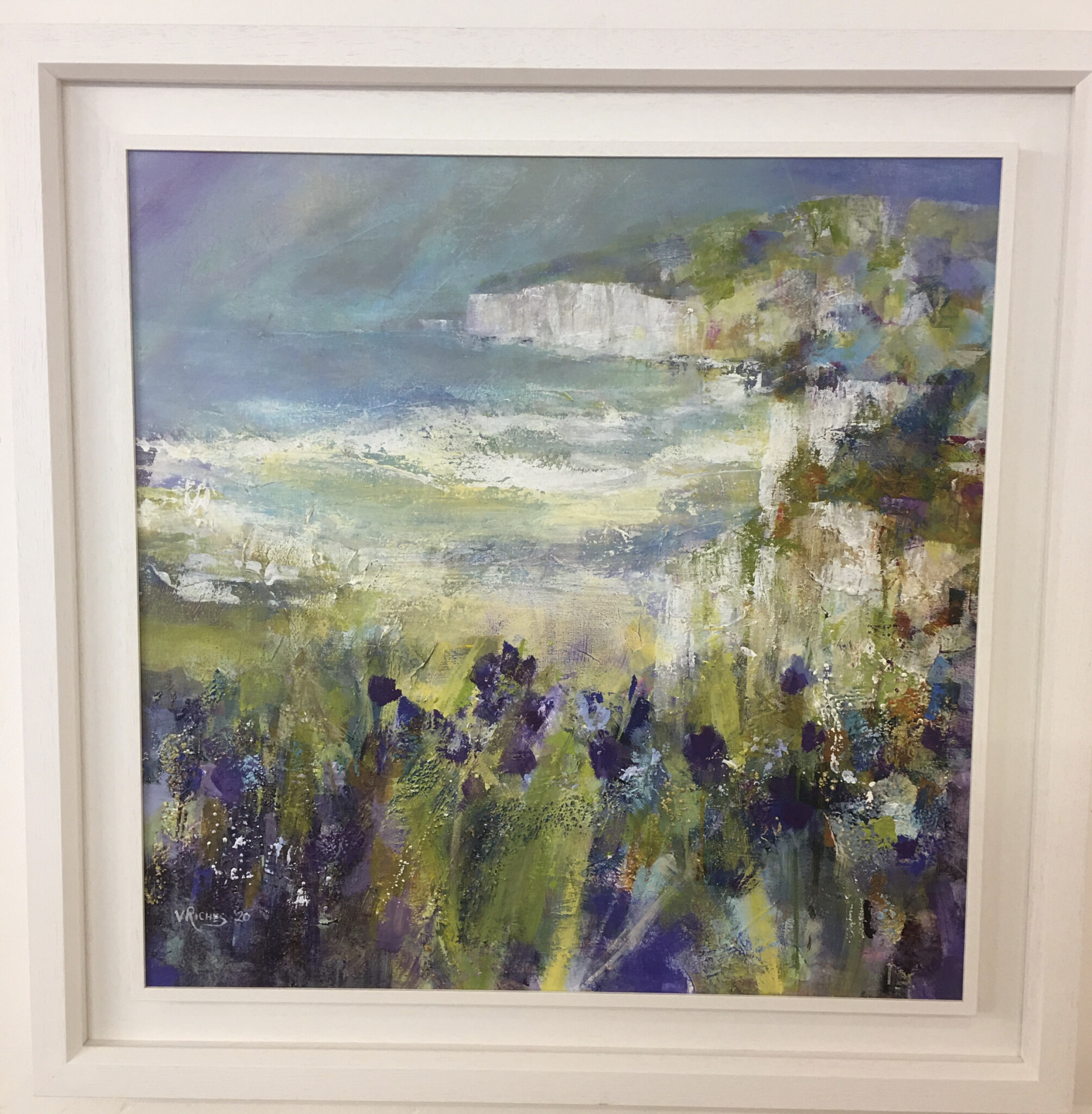 'Floral Coastline' acrylic on board, £625