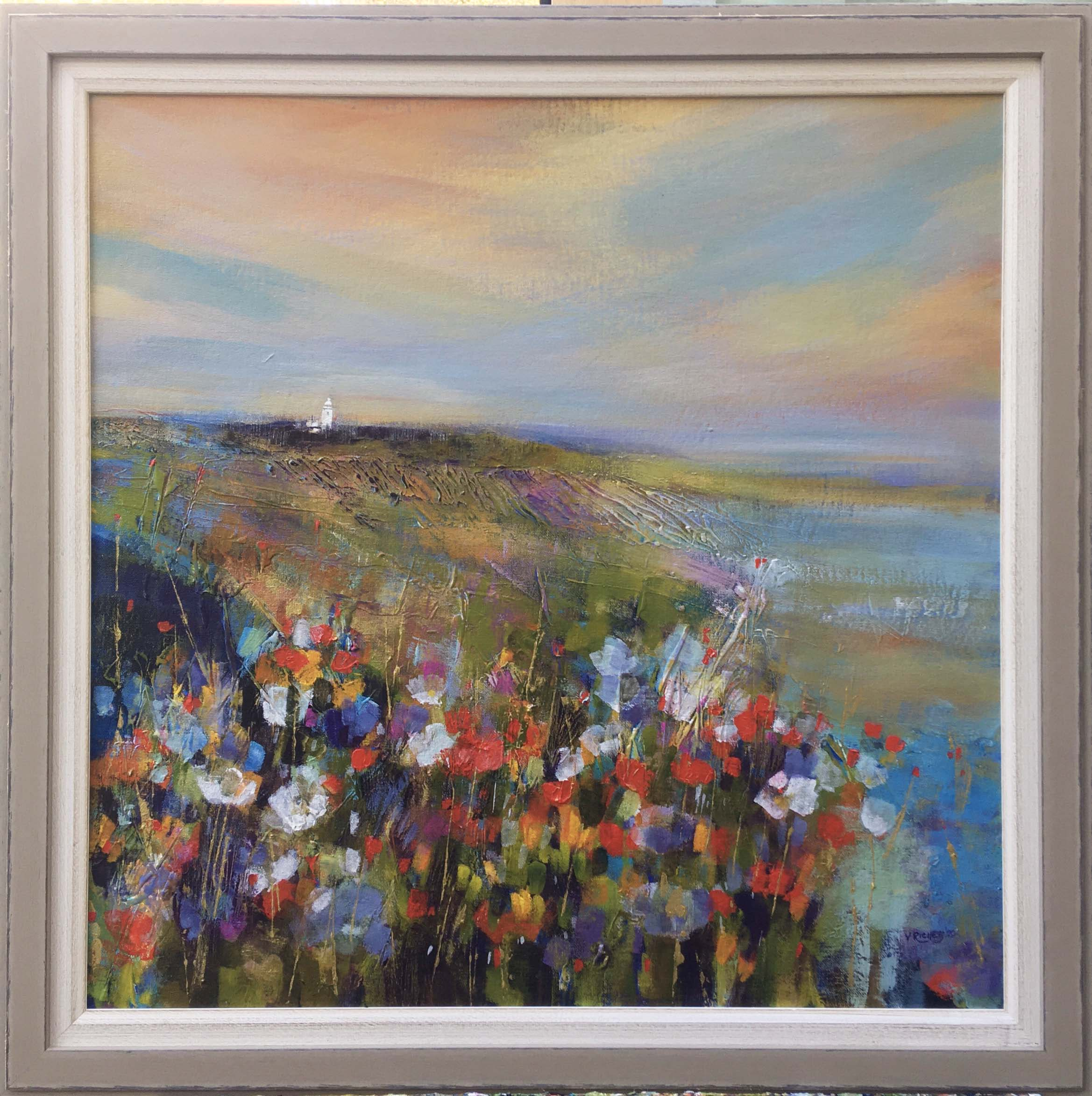 'Sunset over Dover Lighthouse' acrylic on board, £625