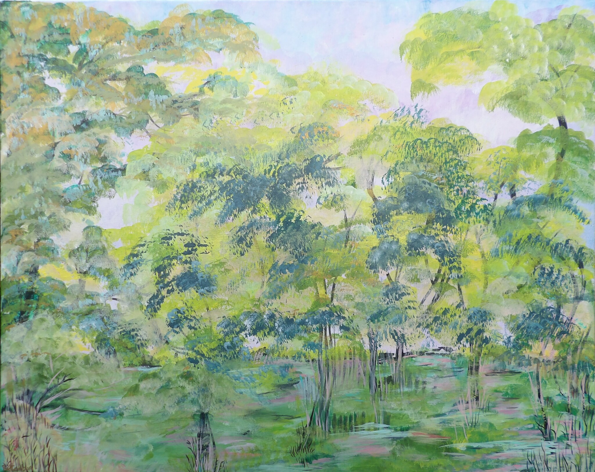 Caroline Battenburg Trees Nature Painting Artist Paint