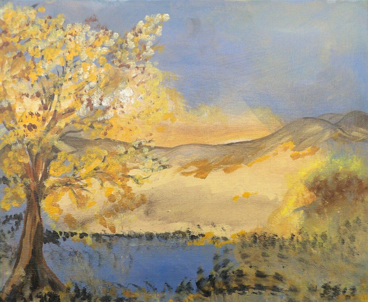 Caroline Battenburg Trees Artist Paint Painting Nature