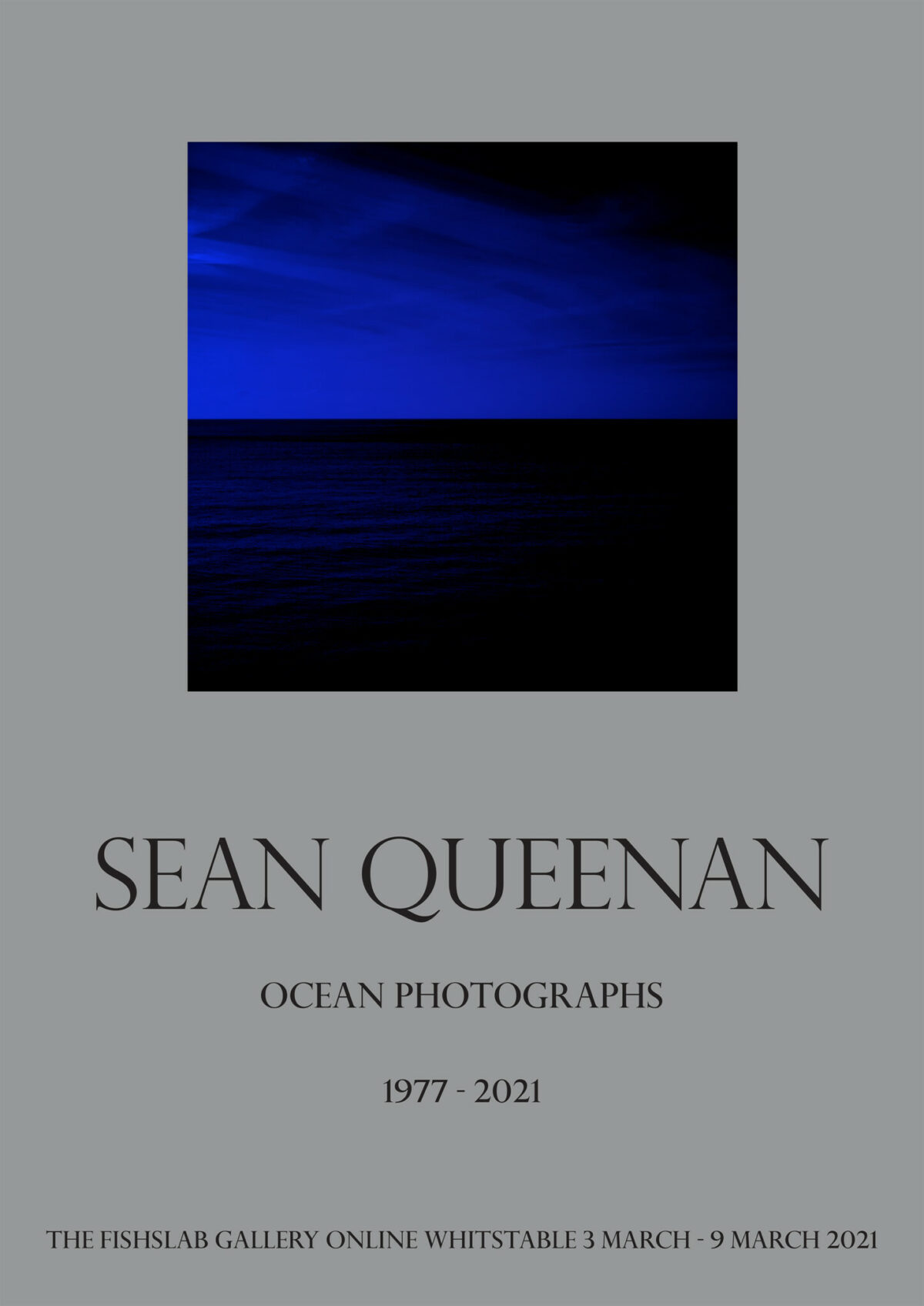 Sean Queenan Exhibition Ocean Photographs